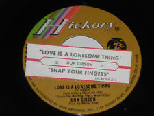 DON GIBSON VG++ Love Is A Lonesome Thing 45 Snap Your Fingers Jukebox Strip 312