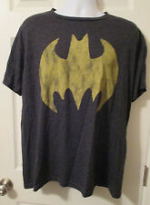 Batman DC Comics Super Hero Batman Bat Signal Logo Soft Distressed T Shirt XL