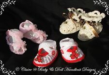 BABYDOLL HANDKNIT DESIGNS KNITTING PATTERN SHOES, BOOTEES & SANDALS 0-3M BABY