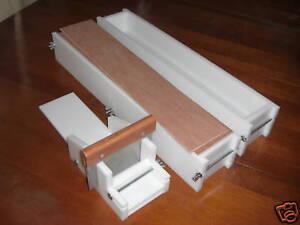 2 Soap Molds 1 Bar Cutter With Blade  2 Wooden Lids Each 6 lb Mold Make 21 Bars