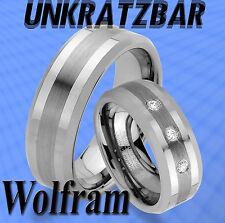2 WOLFRAM TUNGSTEN UNKRATZBAR GRAVUR GRATIS Trauringe Partner Ringe JW5-3