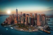 New York City Freedom Tower Manhattan Poster Art Print, 24x36