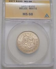 Belize 1977 100 Dollars MATTE variant gold coin