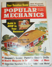 Popular Mechanics Magazine Portable Electric Drills February 1962 120414R