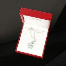 Auth Baccarat Crystal Pendant Necklace Choker Heart VERY GOOD #8D0821 MPRS