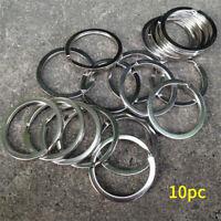 25mm 316 Stainless Steel Key Rings Keychain Heavy Duty Split Rings Anti-lost 10x