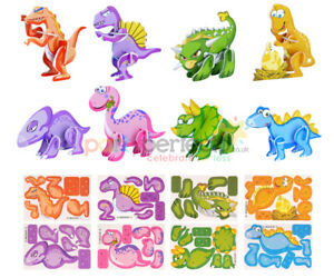 12 Dinosaur 3D Puzzles - Pinata Toy Loot/Party Bag Fillers Childrens/Kids