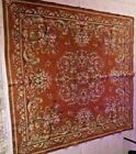 Antique Tapestry Table Cloth Floral  62x64