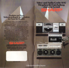 SHARP VIDEO AND AUDIO CATALOGUE FOR EUROPEAN MARKET 81/82