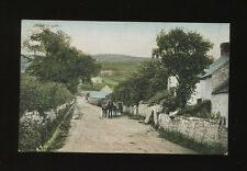 Wales Flintshire PRESTATYN The Lane & donkey cart Used 1905 PPC by Valentine