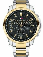 New Mens Tommy Hilfiger Mens 1791559 Gold Two Tone Watch - Free Warranty!