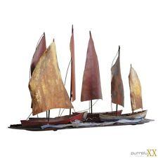LUXUS Skulptur Metallskulptur Schiff ca. 60 x 42 cm Ausstellungsstück  NP 229,-