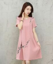 EMBROIDERED FLORAL DRESS (TG) Pink
