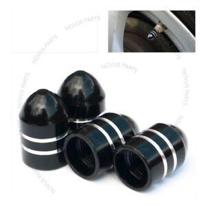 For Ford Mustang Taurus F-150 Black 4pcs Bullet Style Tire Valve Cap Rim Vehicle