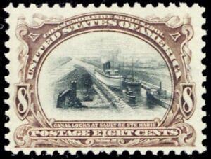 298, Mint 8¢ XF OG NH - Nicely Centered Stamp! - Stuart Katz