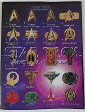 STAR TREK collezione COMPLETA 20 spille Furuta Japan 2002 PINS COLLECTION