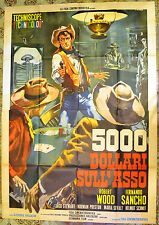 MANIFESTO ORIG. 5000 DOLLARI SULL'ASSO 64 El ranch de los implacables WESTERN
