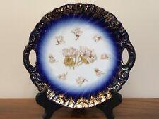 Antique Victoria Carlsbad Austria FLOW BLUE Cake Plate