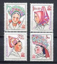 33265) CZECHOSLOVAKIA 1977 MNH** Folk costumes 4v