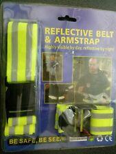 REFLECTIVE SAFERY ARMBAND STRAP & BELT NIGHT SAFETY PROTECT EPP VISIBLE TRAFFIC
