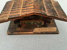 Antica scatola portaoggetti legno ANNECY déco chalet Savoia arte pop francese