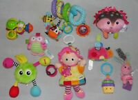 Baby Toy Lot Lamaze Doll Fisher Price Taggies Soft Rattles Infant Girl