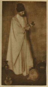Man W/Goblet - Rubaiyat  Photogravure on Tissue -  Adelaide Hanscom