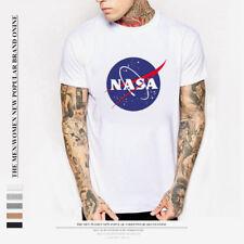 NASA Space Astronaut T-Shirt - Cool Geek Nerd Star Logo Mens Gift Tee Top M-3XL