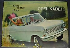 1964 Opel Kadett Sedan Catalog Sales Brochure Excellent Original 64