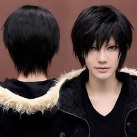 Boy's Kylin Black Hair Wig Mens Male Black Short Hair Cosplay Anime Wigs New