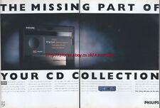Philips DCC Digital Compact Cassette 1993 Double Page Magazine Advert #122