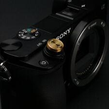 Gariz Sticker Soft Release Button XA-SB6 for Sony Fuji Leica Canon Nikon Gold
