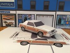 Papercraft 1982 1983 Chrysler LeBaron woody cconvertible Paper Model EZU-make