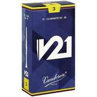Vandoren V21 Bb Clarinet Reeds Strength 3.0 Box of 10