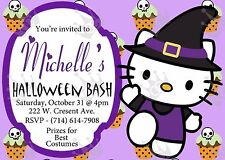 Hello kitty Halloween Invite Template DIY Print at home (S1)