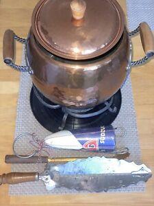Feuerzangenbowle mit Kupfergehäuse+ Zubehör
