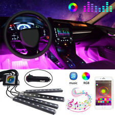 RGB LED Strip Car Interior Footwell Atmosphere Light Bluetooth Phone App Control