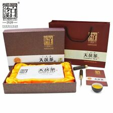 Anhua Dark Tea BaiShaxi 1939 Gold Flower Tea Brick 3 Years Aged Tianfu Tea 1kg