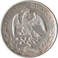 1896 (ZsFZ) Mexico 8 Reales Large Silver Coin Zacatecas KM#377.13