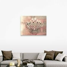 Pink Chandelier Canvas Wall Art Print,  Home Decor