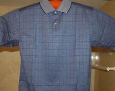 Johnnie Walker Knit Logoed Golf Polo Shirt Blue