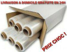 Rouleau Film Étirable TRANSPARENT 6 BOBINES 50cm x330m Emballage Palette 23µ 2kg