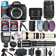 Canon EOS 7D Mark II Camera + 50mm 1.8 STM + 70-300mm + 2yr Warranty - 64GB Kit
