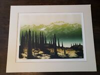 "Hand signed, titled ELTON BENNETT (1910-1974) seriagraph ""Olympus"" 18x 24"