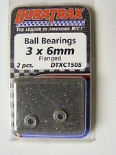 DURATRAX #DTXC1505 3mm X 6mm FLANGED BALL BEARINGS (2 PCS)