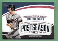 Buster Posey 2018 Topps Update MLB POSTSEASON LOGO PATCH RELIC Giants PSL-BP