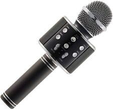 Karaoke-Mikrofon Bluetooth tragbares Mikrofon Lautsprecher Aufnahme schwarz