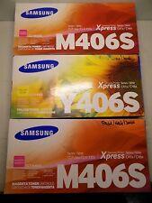 3x SAMSUNG  CLT-M406S & CLT-Y406S - XPRESS C41x/C46x