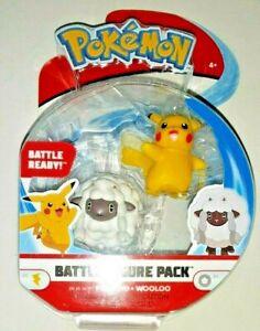 Pokémon - Battle Figure Pack - Pikachu & Wooloo - Battle Ready