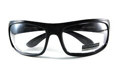 UV48109PHF Motorcycle Glasses with Transitional Photochromic Clear to Grey Lens